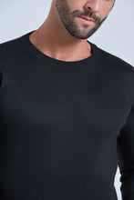 Load image into Gallery viewer, Black Crew Neck Jumper