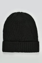 Load image into Gallery viewer, Grey and Black Cable Knitted Beanies (Pack of 2)