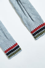 Load image into Gallery viewer, Grey Cable Knit Scarf