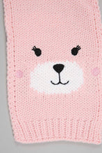 Load image into Gallery viewer, Pink Character Beanie, Glove and Scarf Set With Pom Pom (Pack of 3)