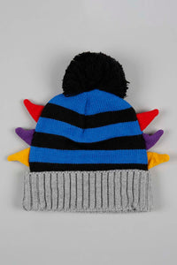 Navy Colourful Side Ear Knitted Beanie with Gloves Set (Pack of 2)