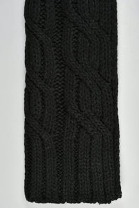 Black Cable Knitted Scarf