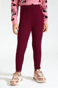 Burgundy Sweater Legging
