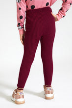 Load image into Gallery viewer, Burgundy Sweater Legging