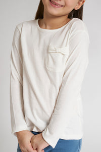 White Plain T-Shirt With Pocket