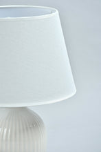 Load image into Gallery viewer, Ivory Ceramic Table Lamp