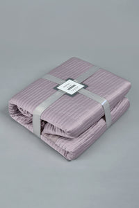 Purple Textured 3-Piece Bedspread Set (Double Size)