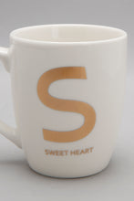 Load image into Gallery viewer, Gold S Alphabet Mug
