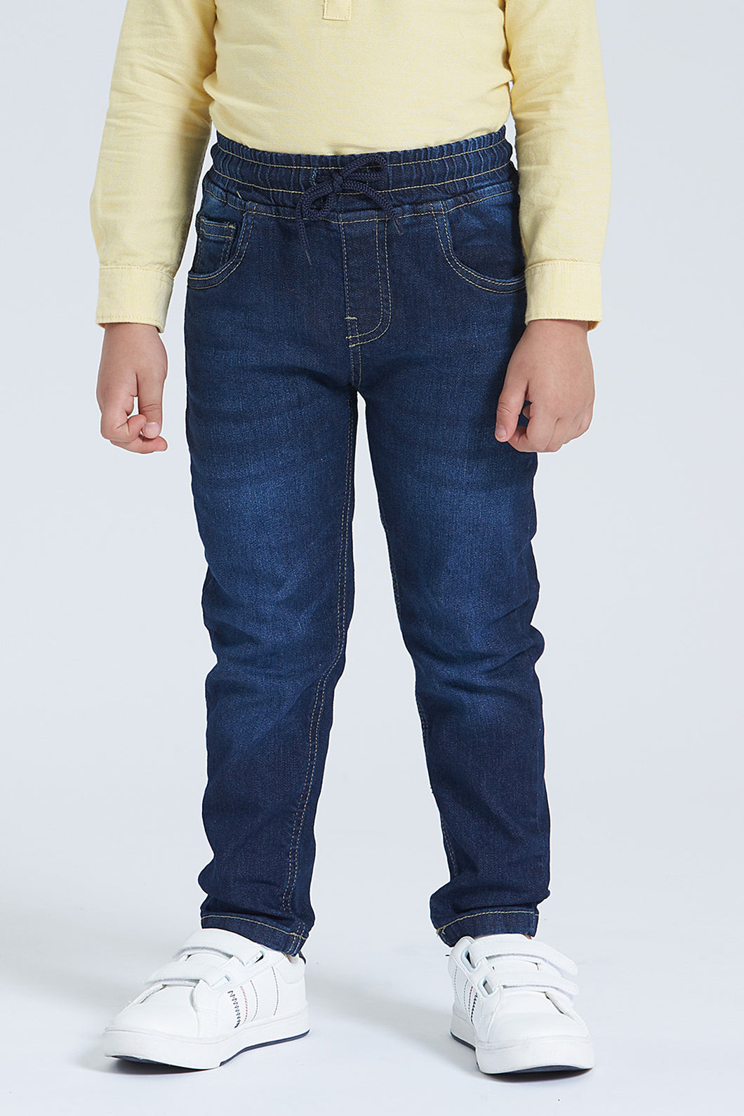 Dark Wash Pull-On 5 Pocket Jean