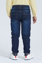 Load image into Gallery viewer, Dark Wash Pull-On 5 Pocket Jean