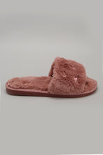 Load image into Gallery viewer, Pink Embroidered Slipper