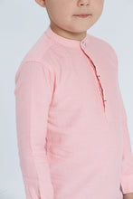 Load image into Gallery viewer, Coral Mandarin Kurta Shirt