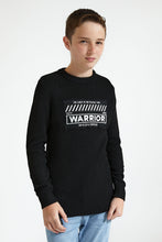 Load image into Gallery viewer, Black Warrior Embroidery Pullover