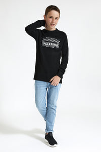 Black Warrior Embroidery Pullover