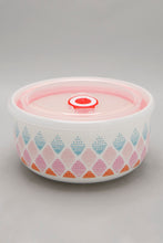 Load image into Gallery viewer, Multi Coloured Geometric Ceramic Food Storage