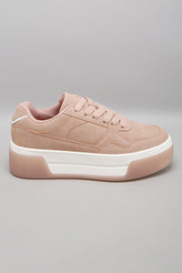 Pink Lace Up Sneaker