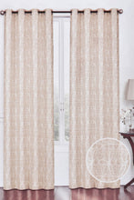 Load image into Gallery viewer, Beige Floral Jacquard Curtain (Pair)