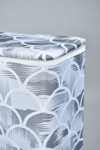 Grey Rectangle Laundry Hamper