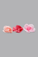 Load image into Gallery viewer, Multicolour Floral Hair Clips (Pack of 3)
