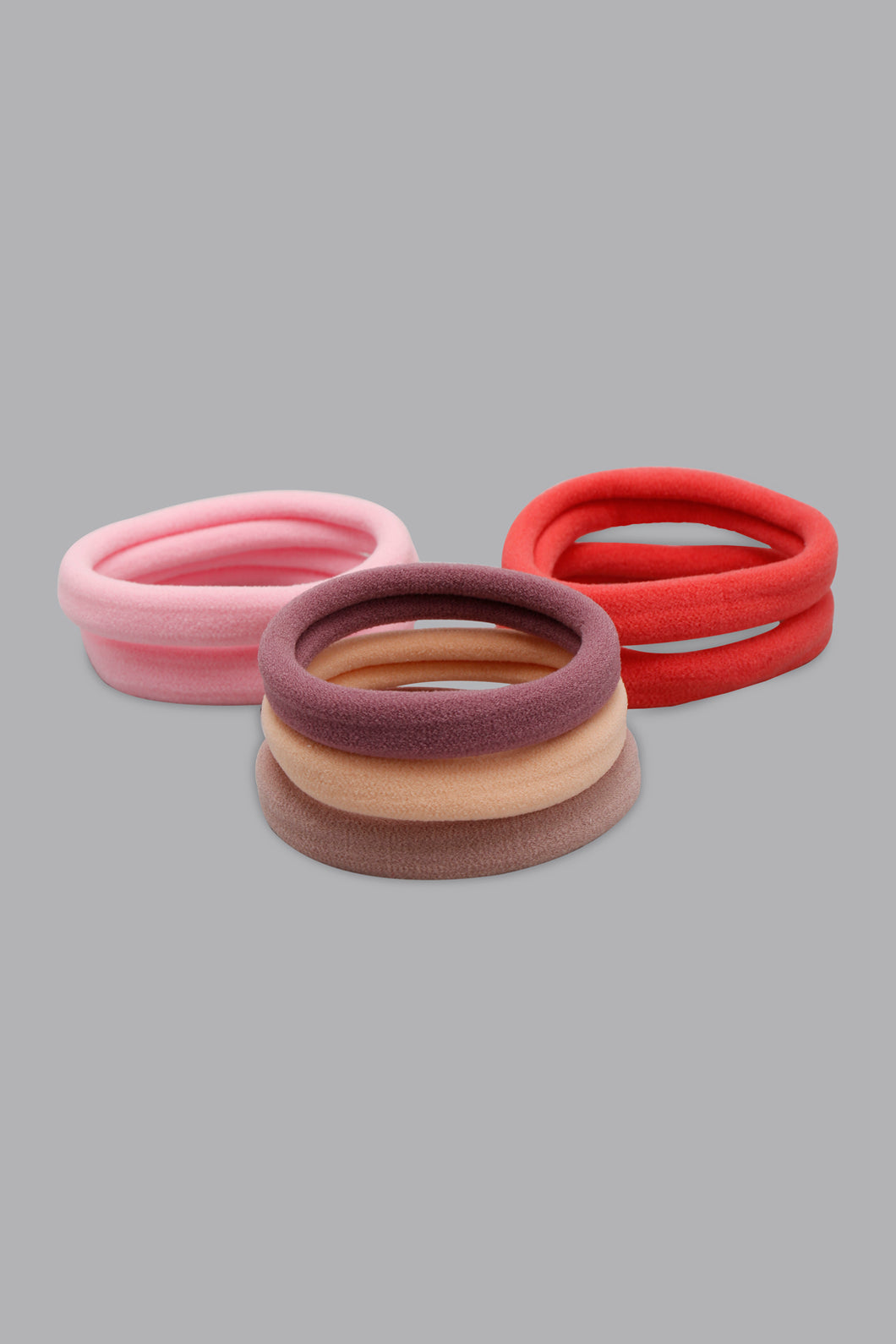 Assorted Hair Bobbles Elastics (Pack of 7)