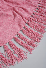 Load image into Gallery viewer, Pink Chenille Throw with Fringe
