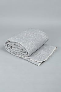 Grey Jacquard 2-Piece Bedspread Set ( Single Size)