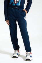 Load image into Gallery viewer, Navy Cut & Sew Jogger