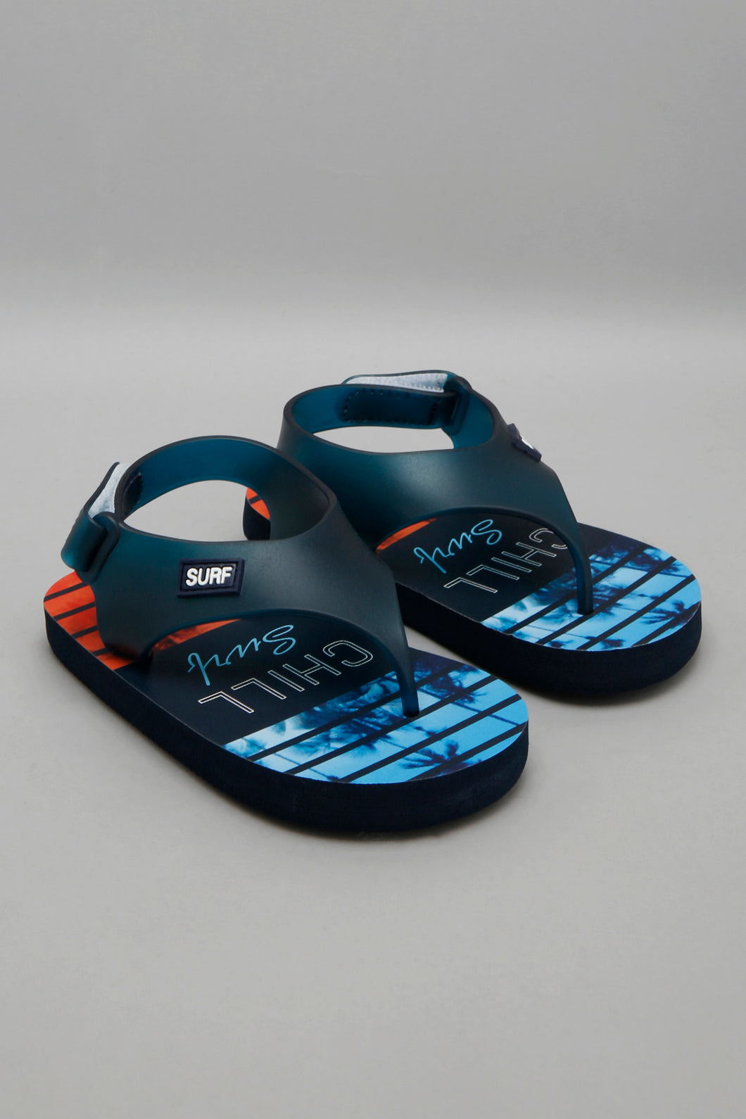 Navy Printed Slide With Backstrap
