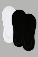 Load image into Gallery viewer, Black/White Plain Invisible Socks (3-Pack)
