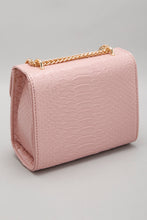 Load image into Gallery viewer, Pink Cross Body Bag with Reptile Texture