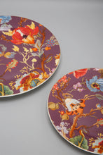Load image into Gallery viewer, Purple Floral Design Plate Set ( 2 Piece)