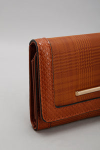 Brown Purse with Textured Pattern