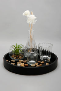 Brown Candle and Flowerpot Set (5 Piece)