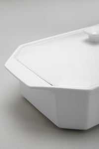 White Rectangle Baking Dish with Lid (Large)