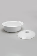Load image into Gallery viewer, White Oval Baking Dish with Lid (Large)
