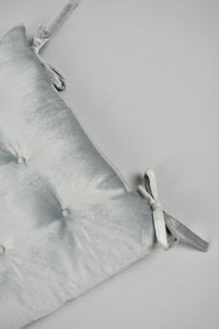 Grey Velvet Chair Pad