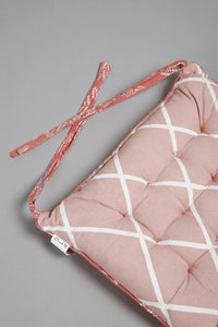 Pink/White Reversible Chair Pad