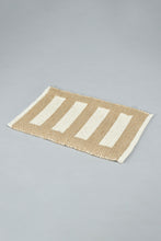 Load image into Gallery viewer, Brown/Beige Stripe Rectangle Placemat