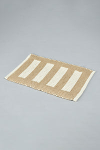 Brown/Beige Stripe Rectangle Placemat