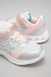 Silver Colourful Upper Trainer