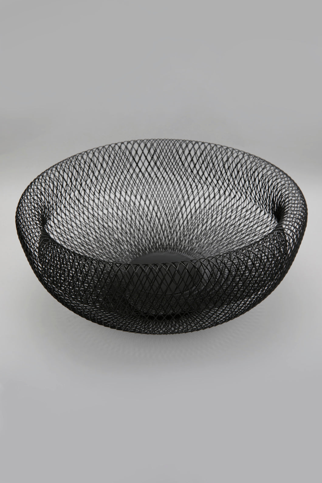 Black Metal Round Basket