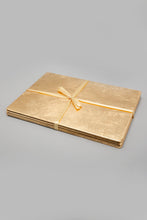 Load image into Gallery viewer, Gold Rectangle Placemat (4 Piece)