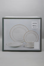 Load image into Gallery viewer, White Gold Band Dinner (20 Piece Set)