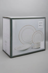 White Gold Band Dinner (20 Piece Set)