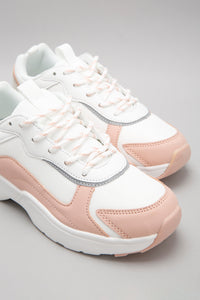 White Lace-Up Trainer