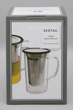 Load image into Gallery viewer, Clear Glass Tea Cup With Stainless Steel Infuser