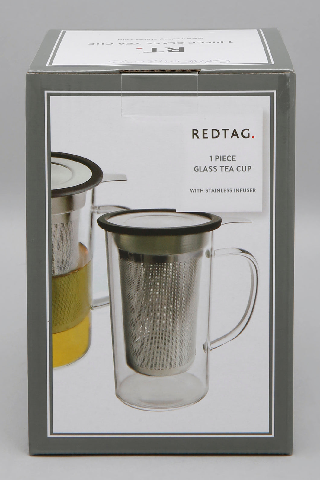 Clear Glass Tea Cup With Stainless Steel Infuser