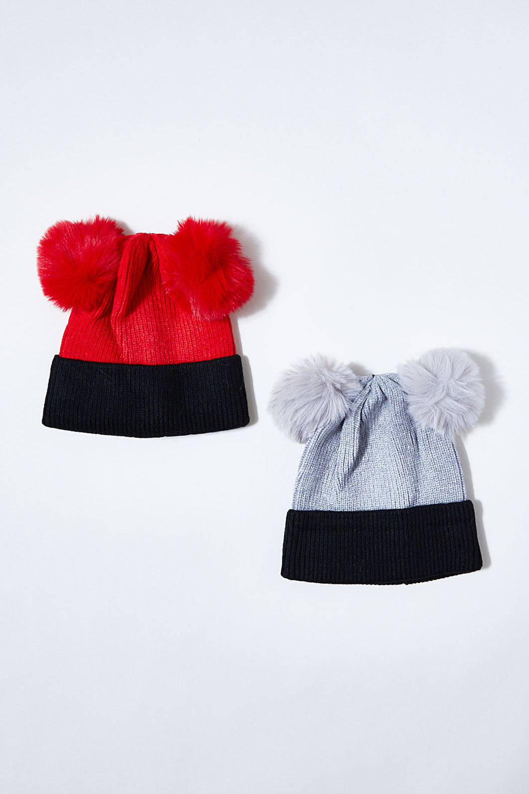 Red/Grey Character Knitted Beanie (Pack of 2)