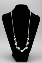 Load image into Gallery viewer, Gold Layered Pearl Necklace