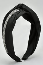Load image into Gallery viewer, Black Knot Embellished Headband